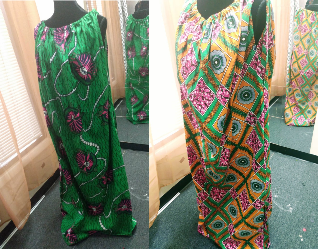 African print yoni steam gown by Ghanastyle